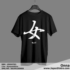 desain baju jepang kaos kanji onna japan distro