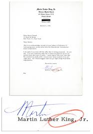 lot detail martin luther king typed letter signed to his agent