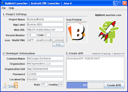 create apk software mymobilauncher