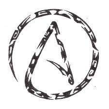 atheist tribal tattoo by creatorfromhell on deviantart