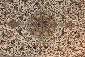 Signed Persian Rugs Cream Persian Rug Signed For Sale At 1stdibs