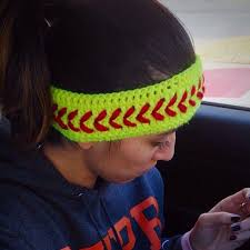 softball headbands crochet softball headband pattern crochet and knit