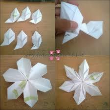 cara membuat origami bunga dari uang kertas tutorial origami bunga salju