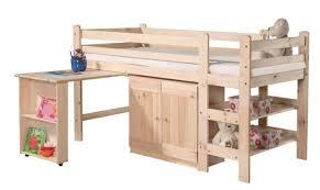 bureau enfant en pin lit combiné enfant avec bureau vincent pin massif mobilier en