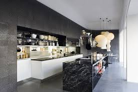 black unique kitchen design ideas with grey floor 3275