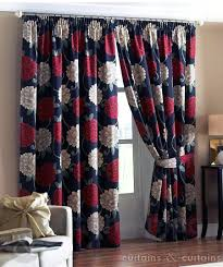 bella red black ready made designer curtain curtains and curtains uk