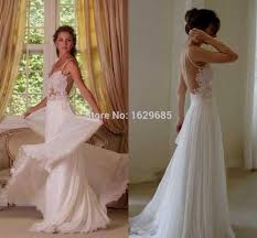 wedding dress lace backless naf dresses