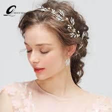 wedding hair veil luxury headband with earrings tiara bridal hair accessories