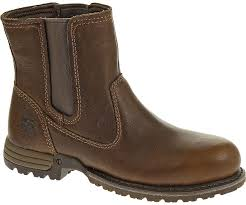 womens work boots freedom pull on steel toe work boot oak cat footwear