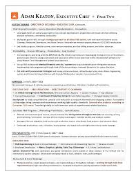 Resume Sample For Chef by Award Nominated Executive Chef Sample Resume Executive Resume