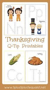 thanksgiving q tip painting printables 1 1 1 1