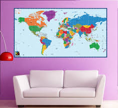 world map office wall mural children educational wall zoom