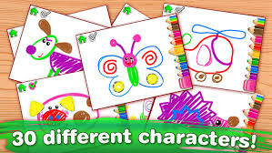 drawing for kids full coloring and painting games by bini bambini