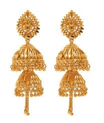 gold jhumka earrings gold jhumka earrings image collections jewelry design exles