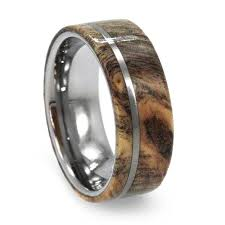 wood engagement rings wood wedding band with tungsten pinstripe