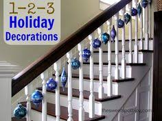 Christmas Lights For Stair Banisters Christmas Decorations For The Staircase Christmas Decor