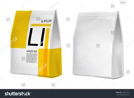 foil paper food bag package coffee stock vector 443571553