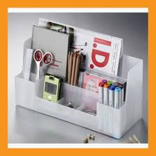 desk organizer office workspace storage box accessory caddy stand tray