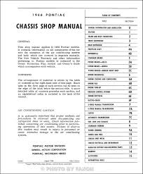 1966 pontiac repair shop manual reprint bonneville grand prix