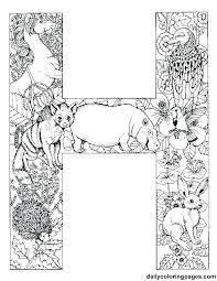 coloring pages with letter h alphabet s coloring sheets worksheets illuminated manuscript