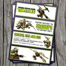 72 best teenage mutant ninja turtle invitations images on