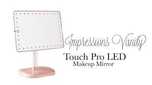 lighted makeup mirror reviews impressions vanity brittany bear touch pro led makeup mirror review
