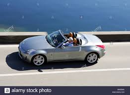 nissan coupe convertible car nissan 350 z roadster model year 2003 coupe stock photo