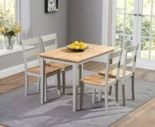 buy the parisian 130cm grey shabby chic dining table with chairs