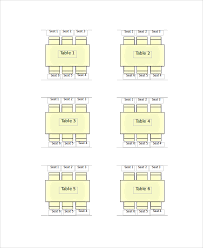 Wedding Seating Chart Template Sample Seating Chart 8 Documents In Pdf Word
