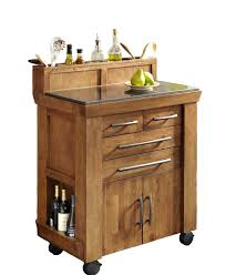 buy mobile kitchen island trash bin w 3 shelf pantry at
