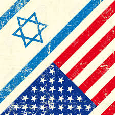 Flag Of Israel Mixed Flag Of Israel And The United States Of America Royalty Free