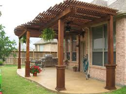 Clear Patio Roofing Materials Exterior Inspiring Wood Patio Cover With Wood Material Plus