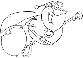 super santa claus fly coloring free printable coloring pages