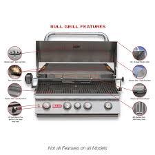 Backyard Grill 4 Burner by Bull Lonestar Select 4 Burner Built In Gas Grill Hayneedle