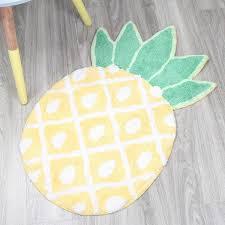 Yellow Bath Mat How To Make A Pineapple Shaped Bath Mat Craft U0026 Diy Pinterest
