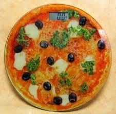 pese cuisine pèse personne digital original en verre pizza amazon fr