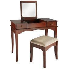 nexera vanity table with mirror storage open top ebay
