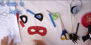 como hacer mascaras en forma de rosa como hacer mascara y dulcero de spiderman hombre araña para