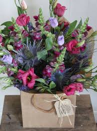 Blue And Purple Flowers Wilderness Roots Floral Designs Bristol