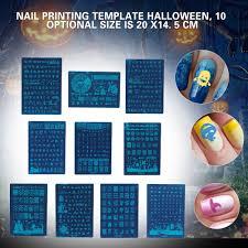 Halloween Nail Art Bats by Online Get Cheap Halloween Nail Stencils Aliexpress Com Alibaba