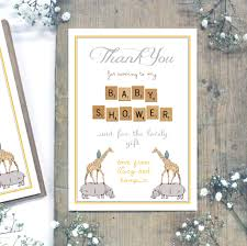 personalised baby shower u0027thank you u0027 postcards by precious little