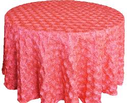 wedding linens for sale coral satin rosette tablecloths wedding sale
