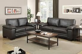 Genuine Leather Sofa Sets Leather Sofa Set By Poundex F7763 Huntington Beach Furniture