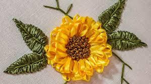 sunflower ribbon embroidery designs diy ribbon flower handiworks 71