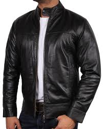 mens leather biker jacket mens leather biker jacket black brand new real leather coat