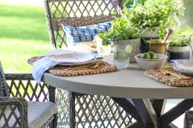 fresh mint and mojitos outdoor tablescape leslie style