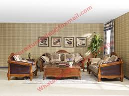 Leather And Wood Sofa Solid Wood Sofa Set On Sales Quality Solid Wood Sofa Set Supplier