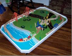 thomas the tank engine table top 64 best diy train tables images on pinterest train table play