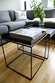 cal dak metal tv tray tables set of four with stand black gold