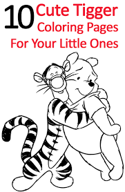 tigger with heart coloring page and coloring pages of the